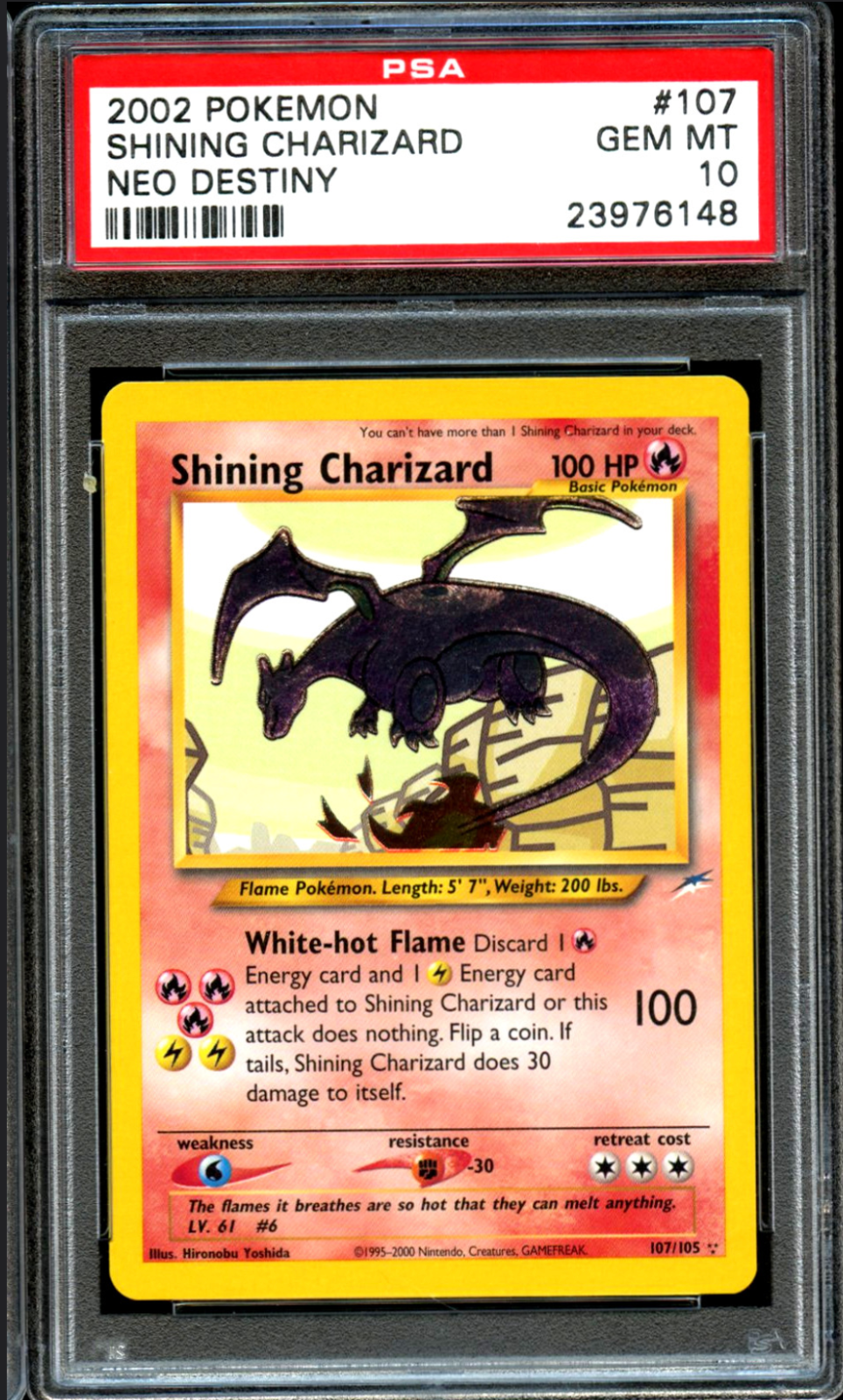 2002 Pokémon Shining Charizard Card