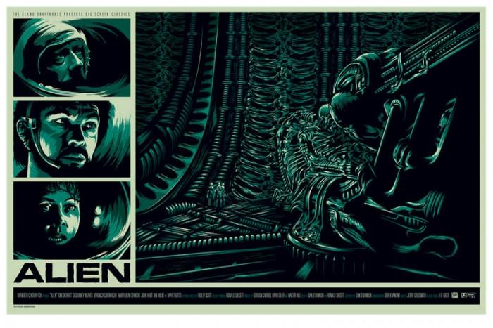 Ken Taylor Alien poster for Mondo
