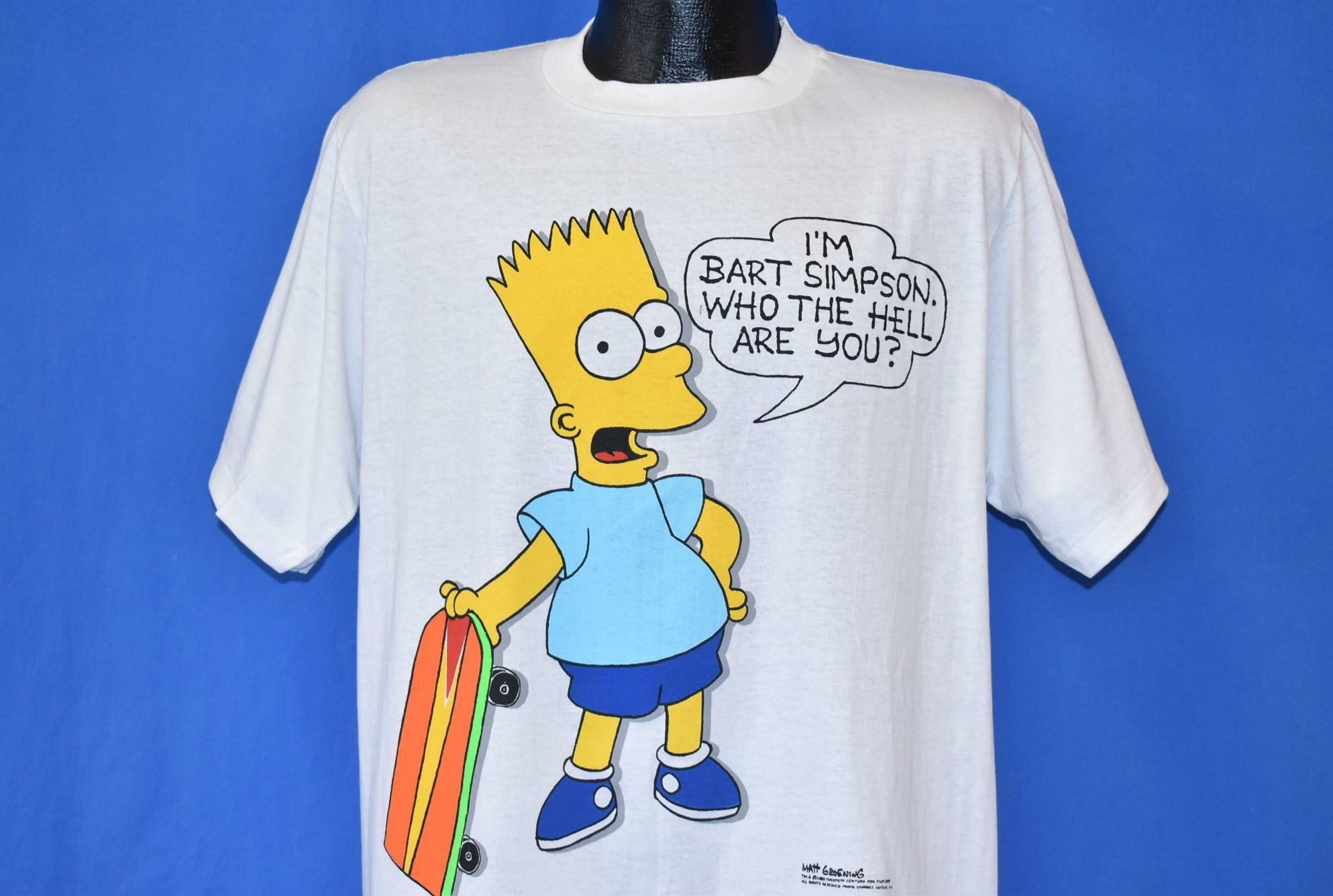 A vintage Bart Simpson t-shirt from the 1990s