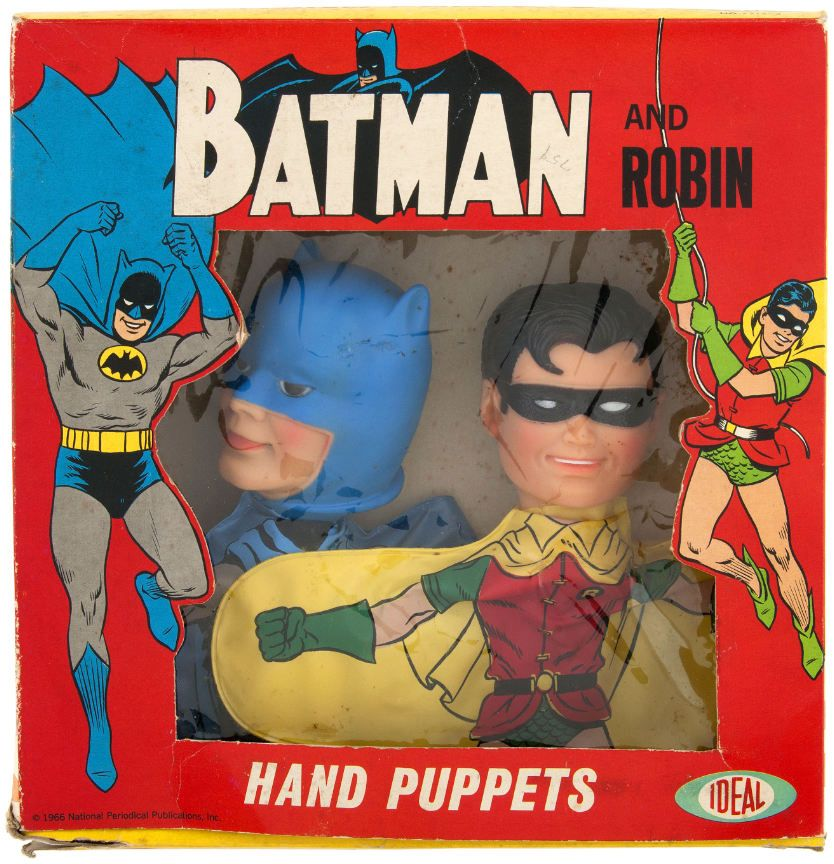 Batman And Robin Hand Puppets by Ideal