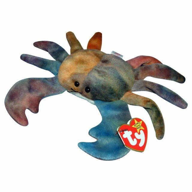 """Ty Beanie Babies """"Claude"""" crab plush"""