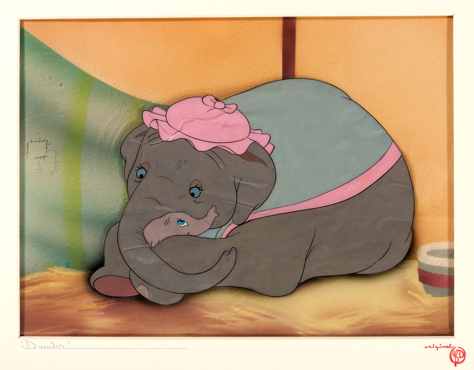 Dumbo production film cel