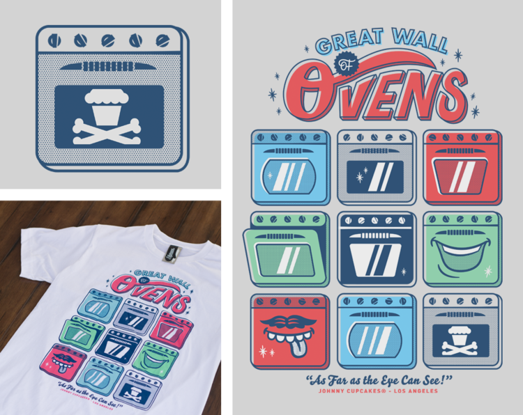 "Johnny Cupcakes ""Great Wall of Ovens"" t-shirt"