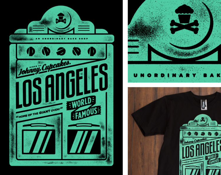 "Johnny Cupcakes Los Angeles ""LA Oven"" t-shirt"