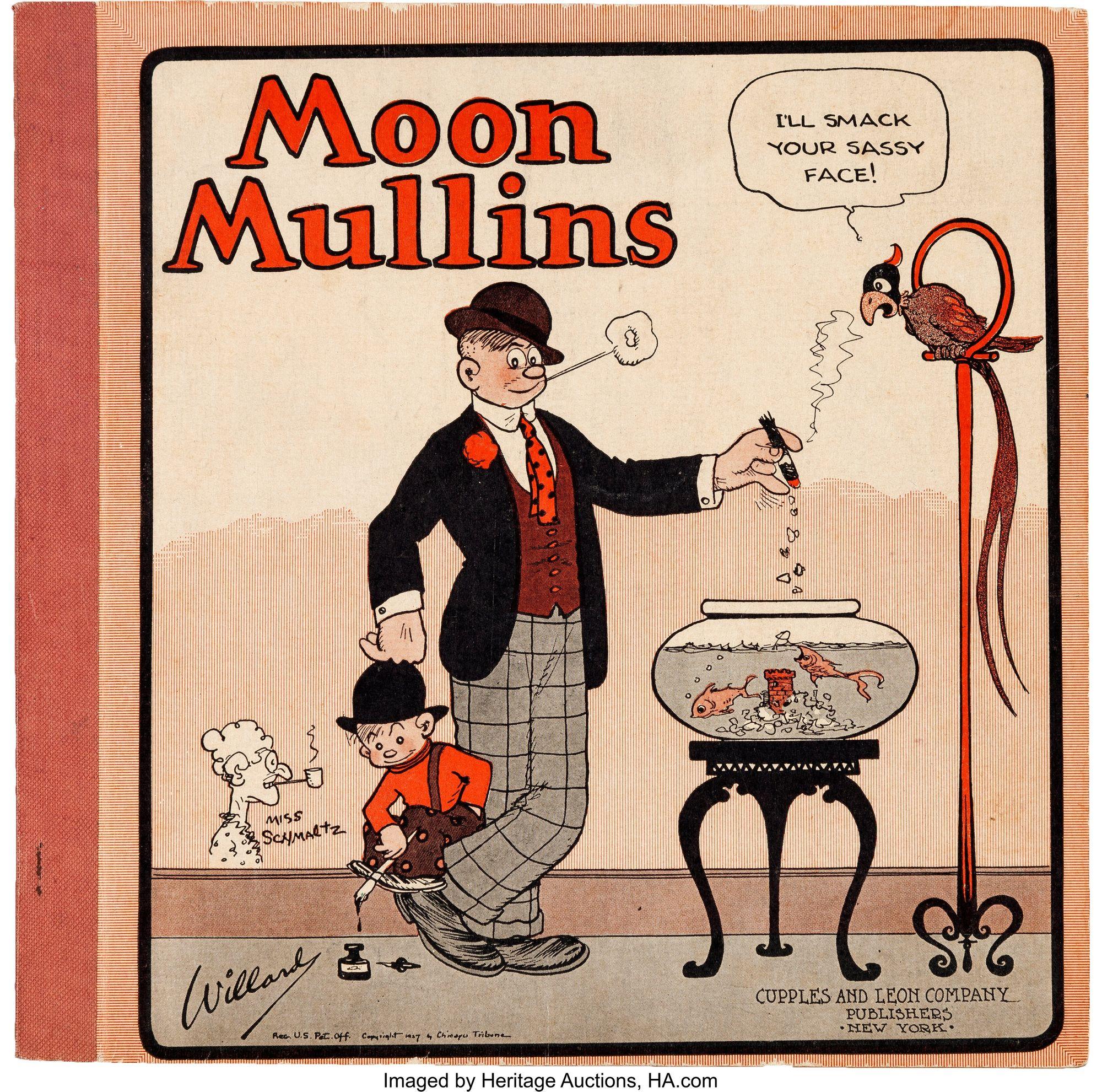 Moon Mullins board game packaging