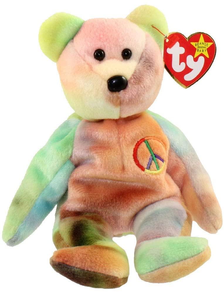 "Ty Beanie Babies ""Peace"" plush bear"
