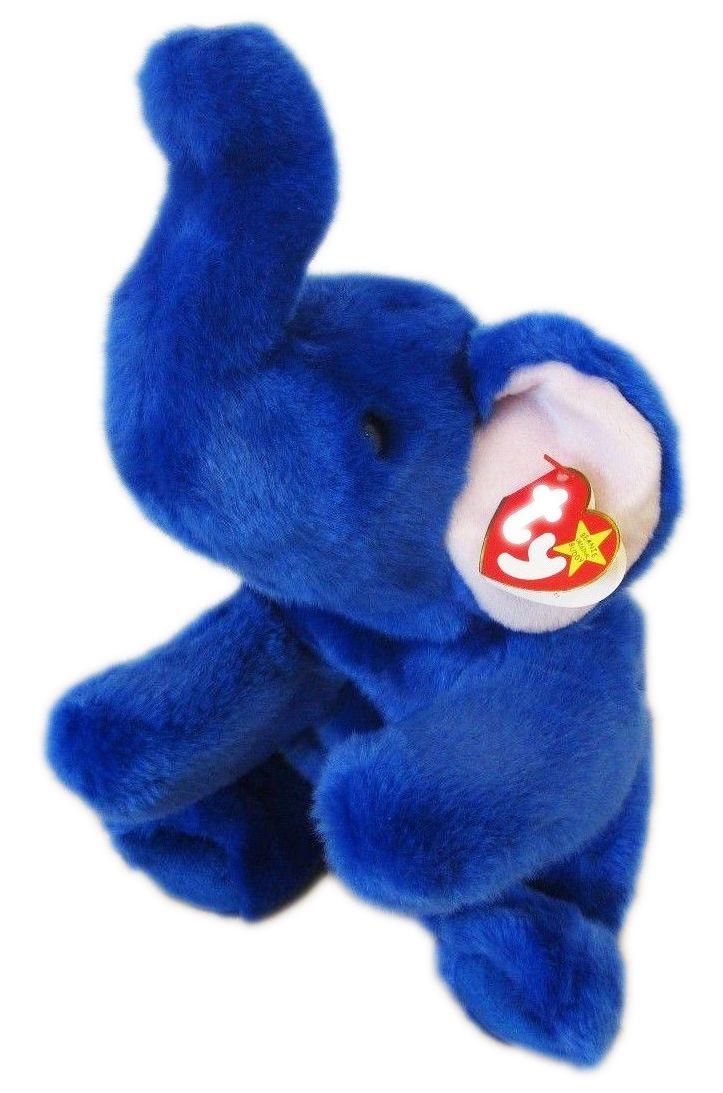 "Ty Beanie Babies ""Peanut"" royal blue variant"