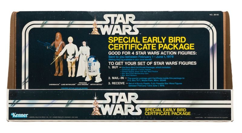 Kenner Star Wars Special Early Bird Certificate Package store display