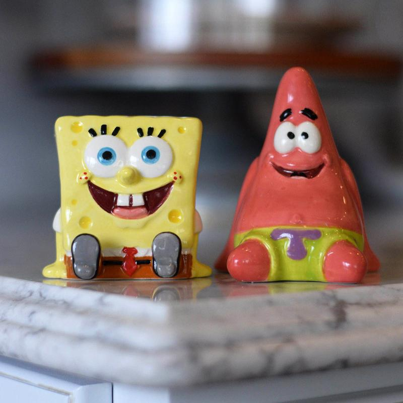 SpongeBob SquarePants Salt and Pepper Shaker Set