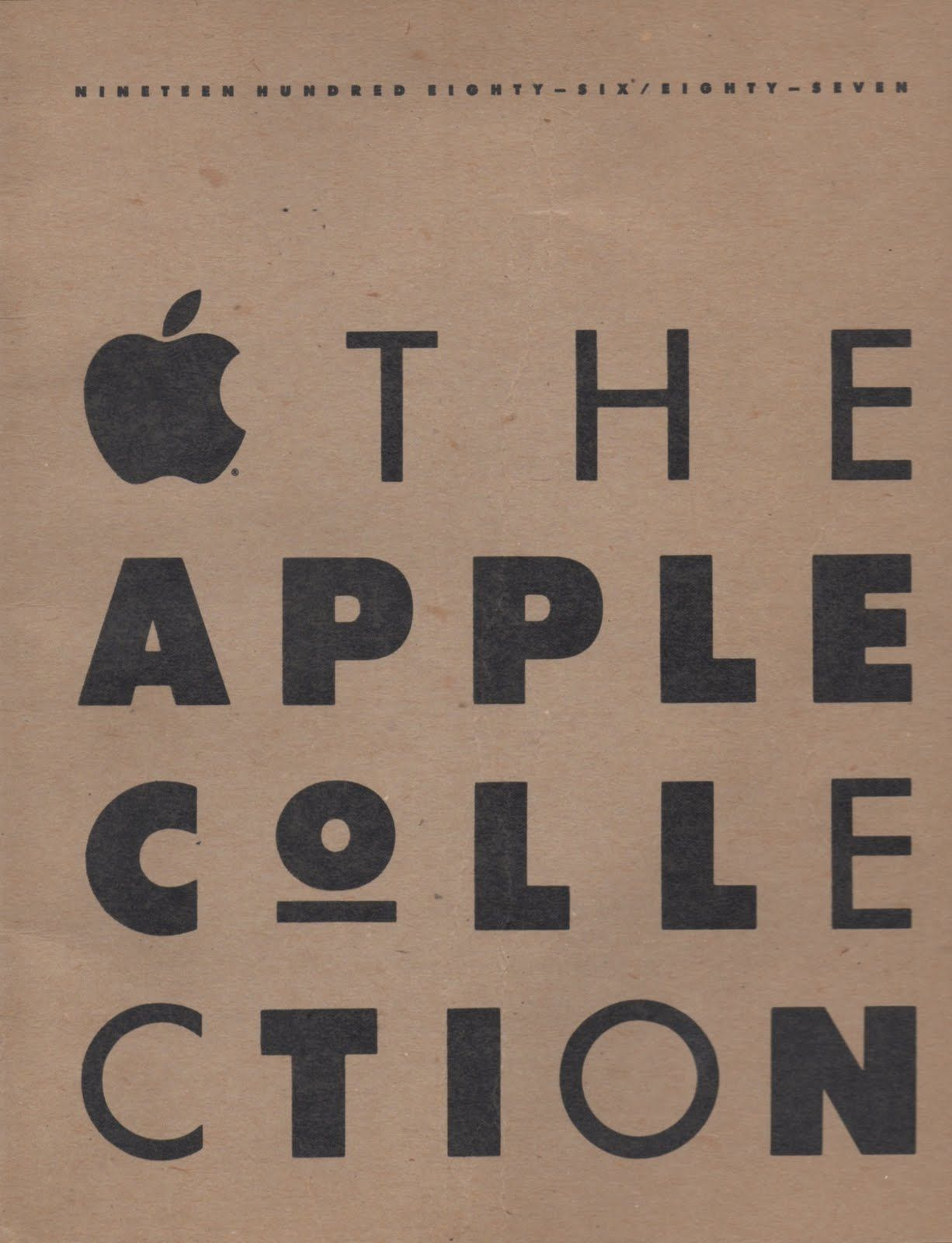 The Apple Collection catalog, 1986