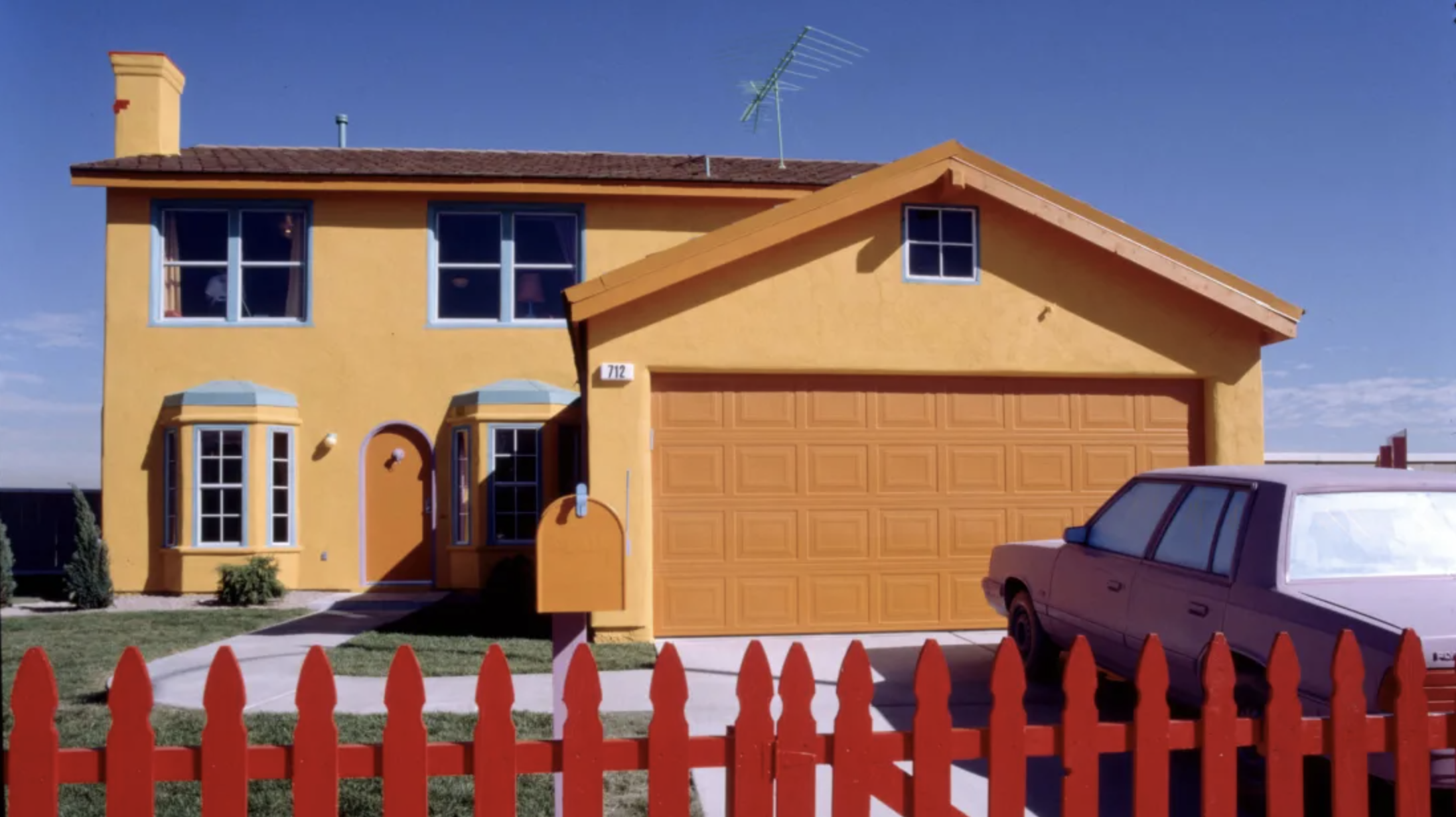 A replica of The Simpsons house