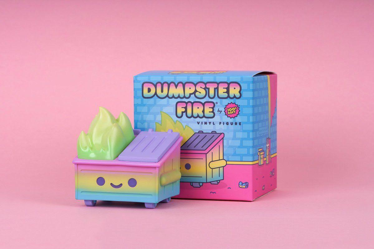100% Soft Dumpster Fire Rainbow Trash Edition Vinyl Figure