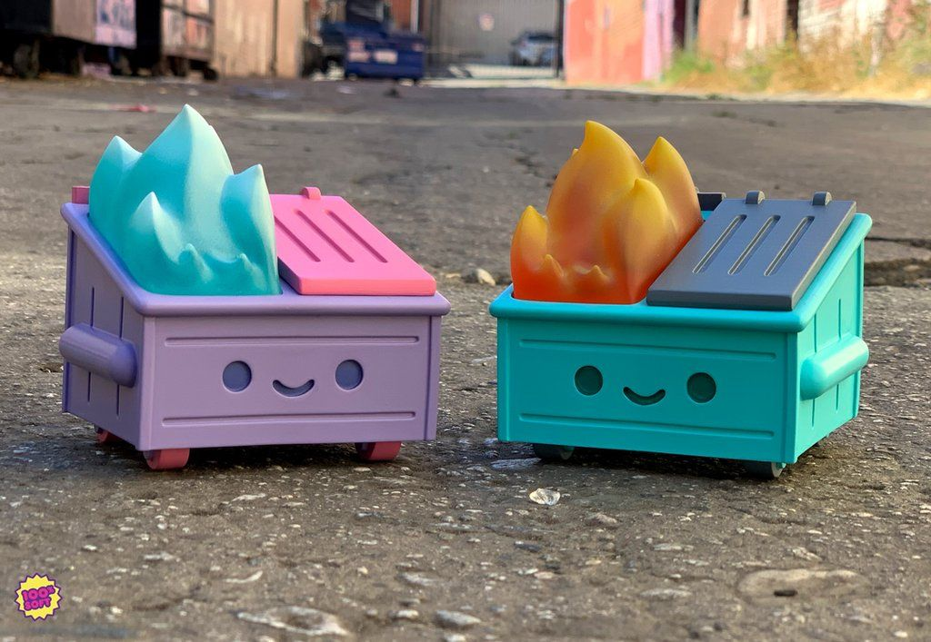 The very first 100% Soft Dumpster Fire toys released at SDCC 2019