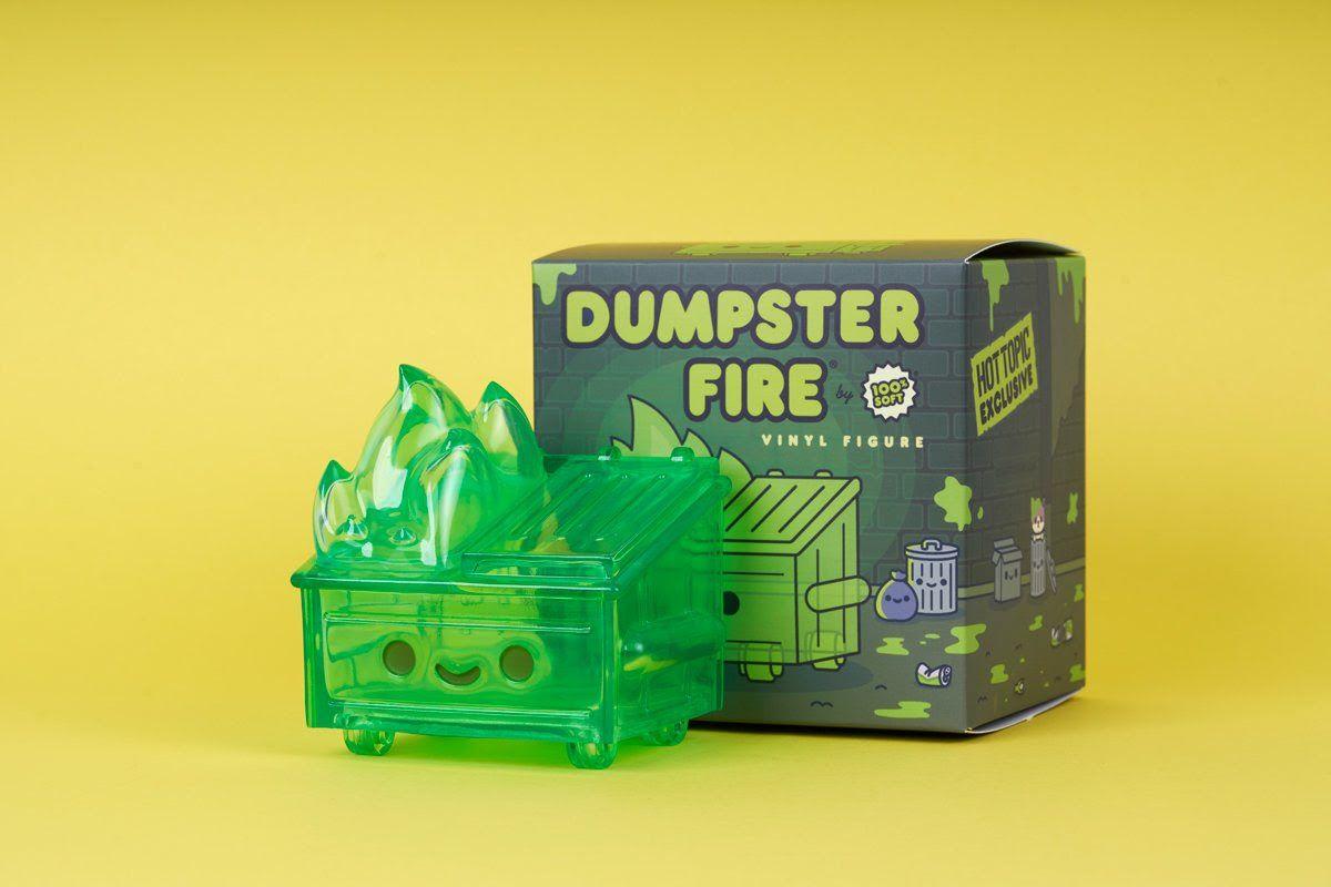 100% Soft Dumpster Fire Slime Edition Vinyl Figure