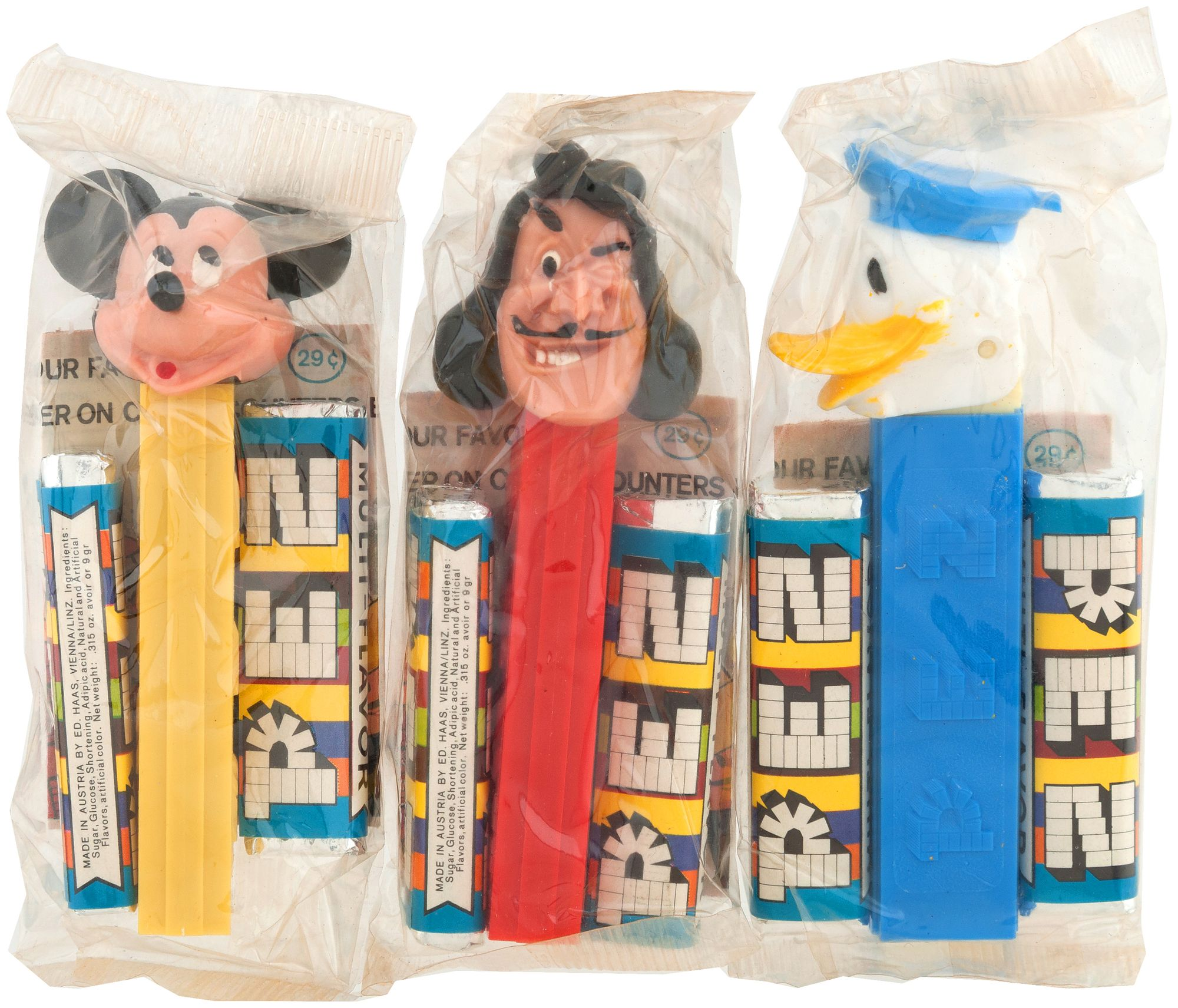 PEZ dispensers from the 1960s