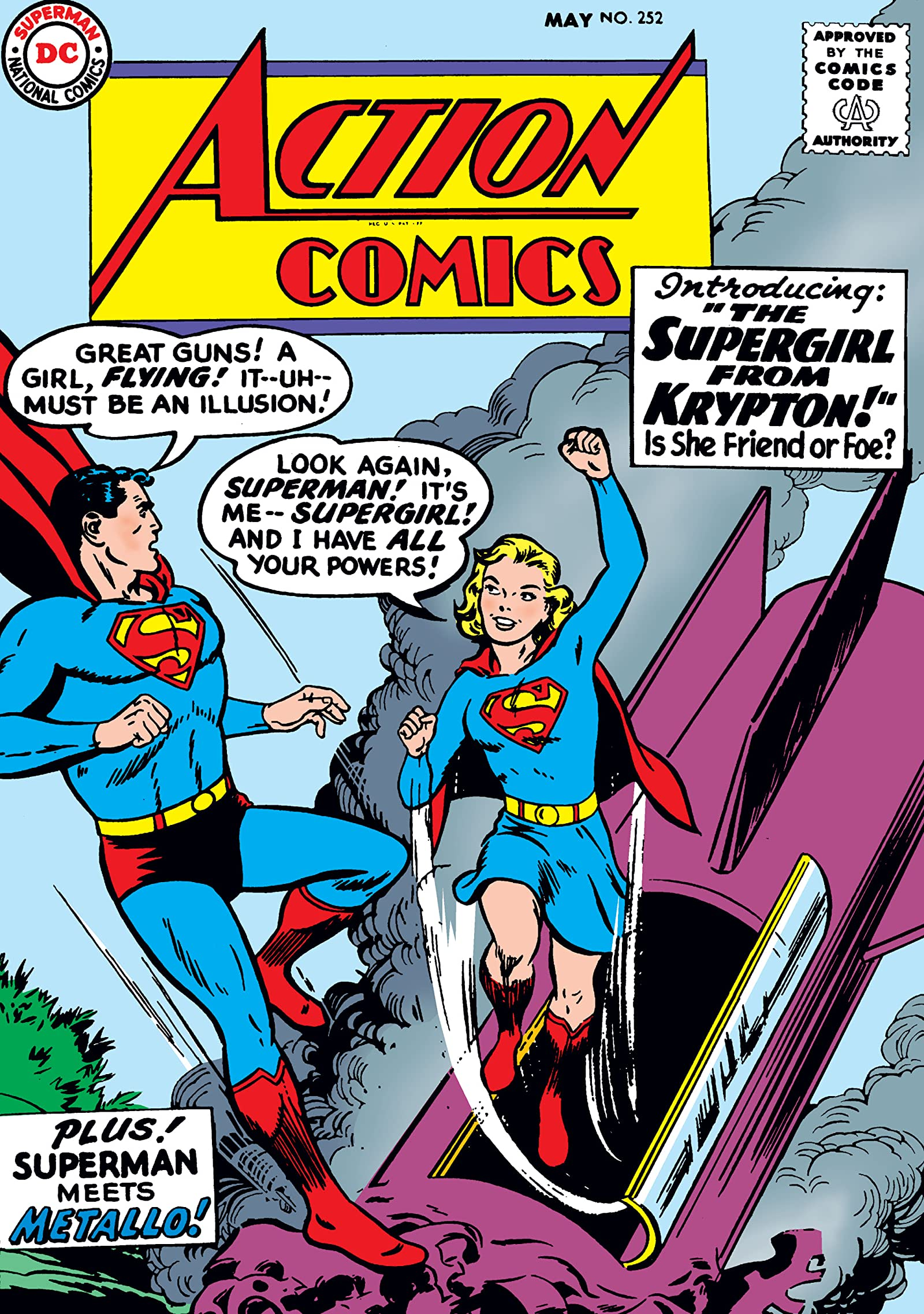 Action Comics #252, the first appearance of Supergirl