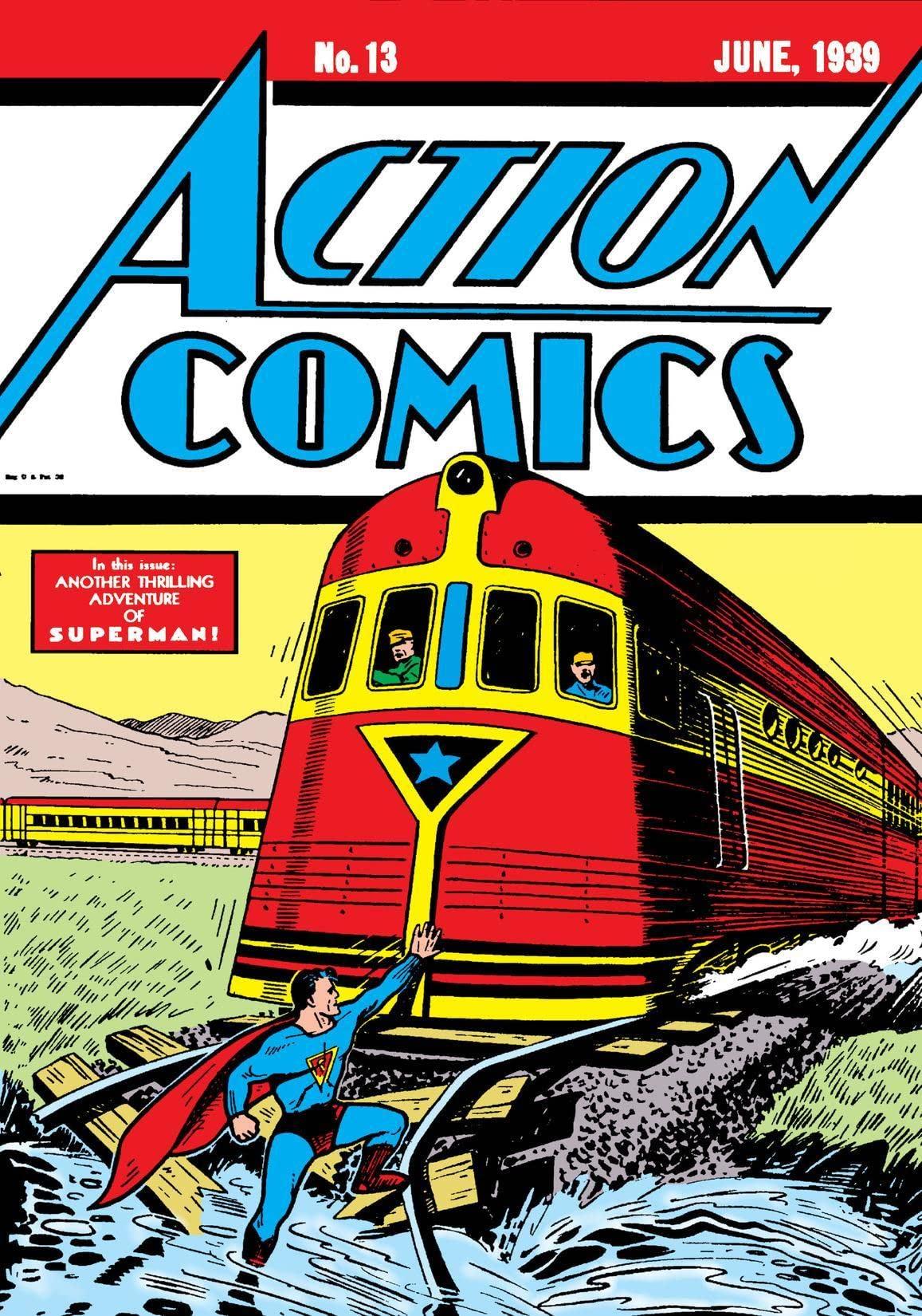 """DC Comics """"Action Comics #13"""" June, 1939"""