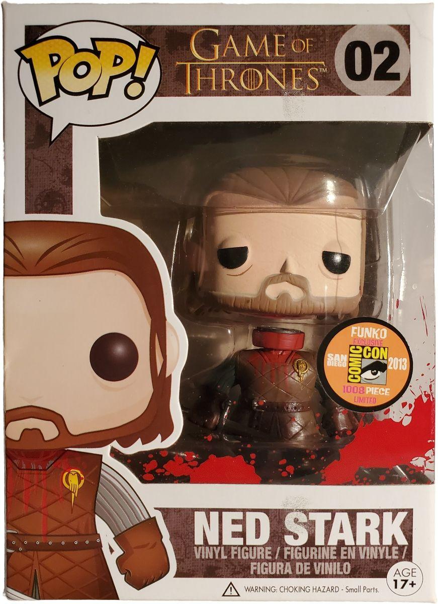 SDCC 2013 Exclusive Funko Pop! Game Of Thrones Ned Stark (Headless) (Bloody) Vinyl Figure