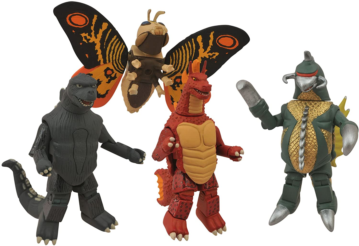 Assorted Godzilla Minimates figures