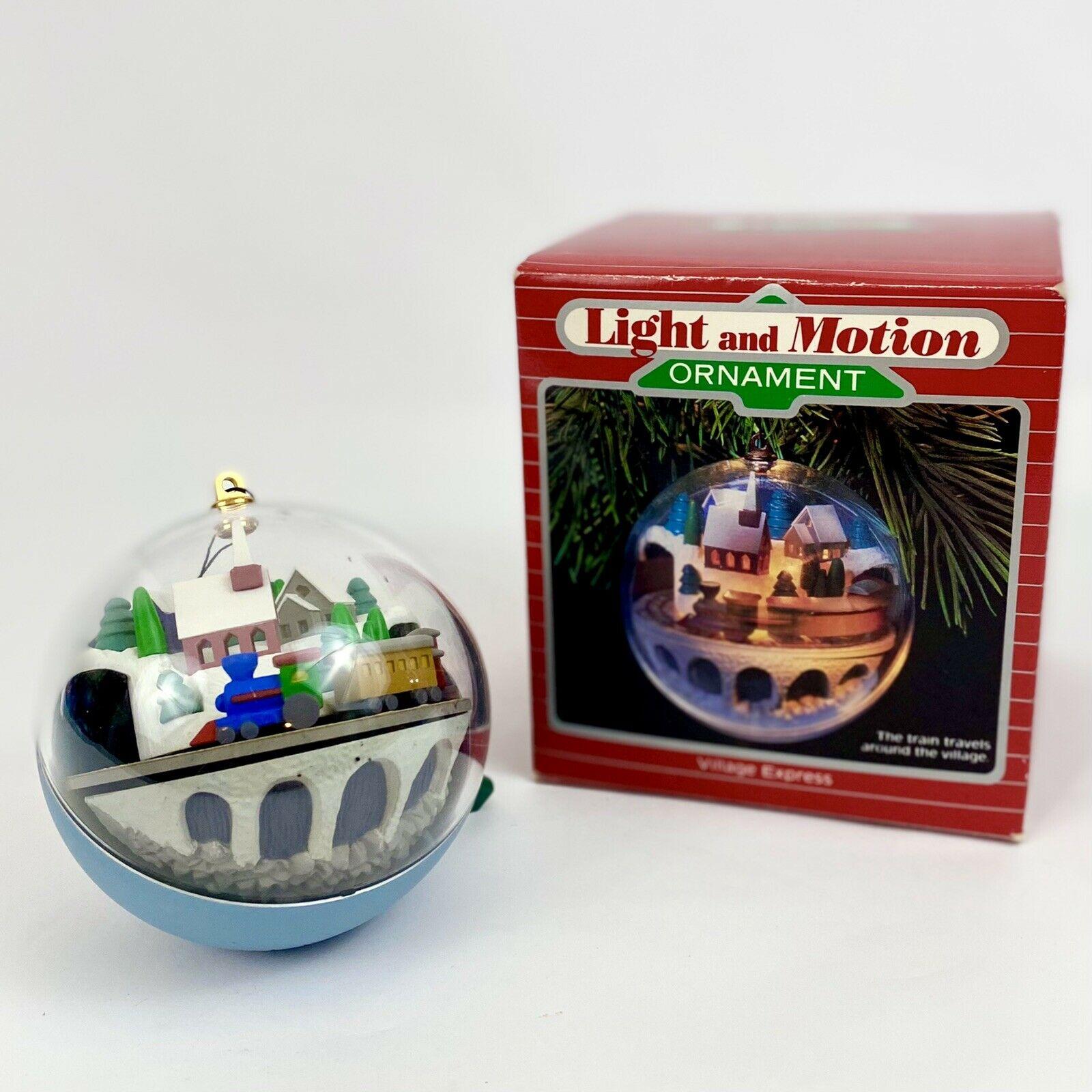 """Hallmark Light & Motion Ornament """"Village Express"""""""
