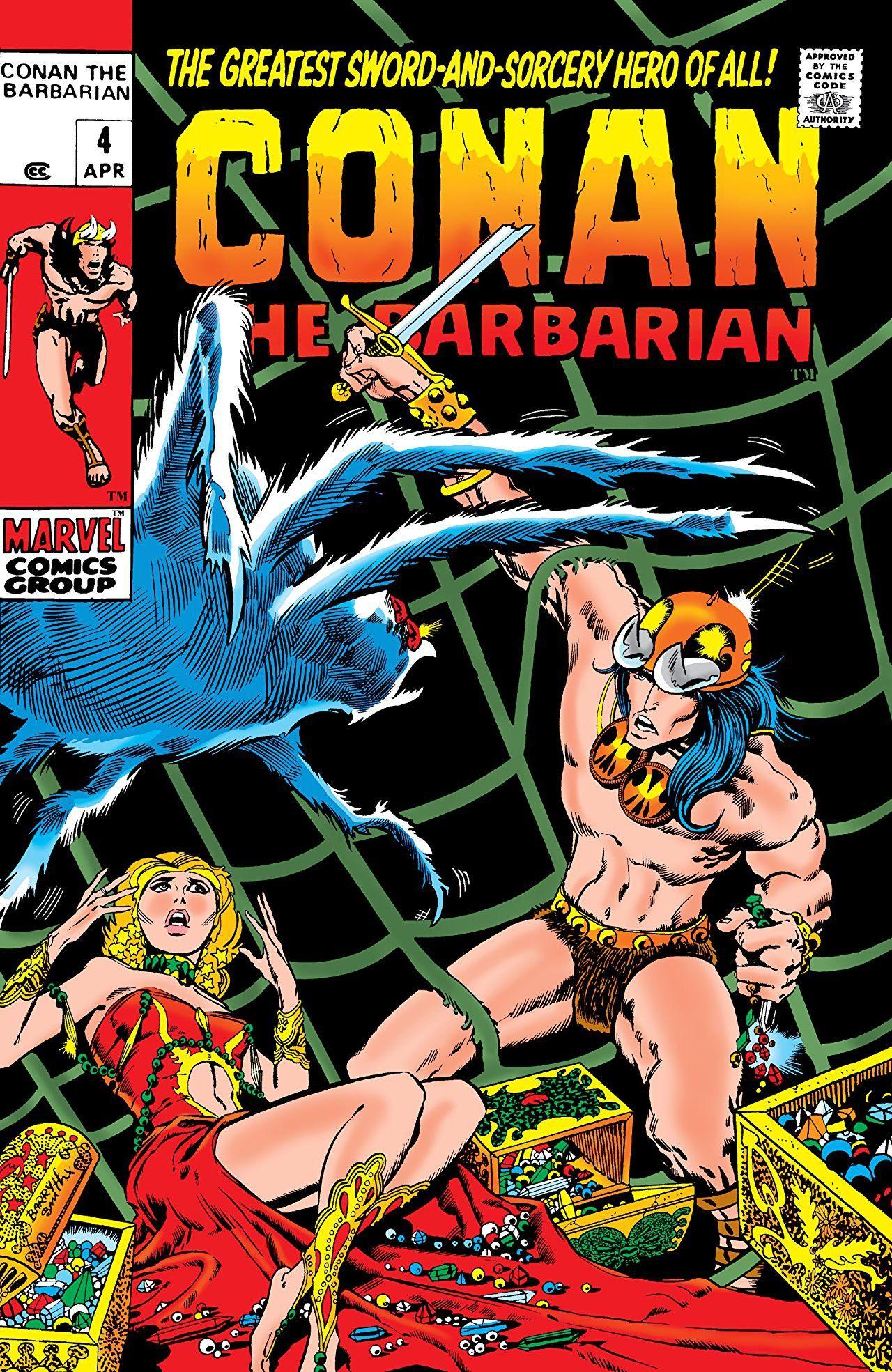 "Marvel ""Conan the Barbarian #4"" 1971"
