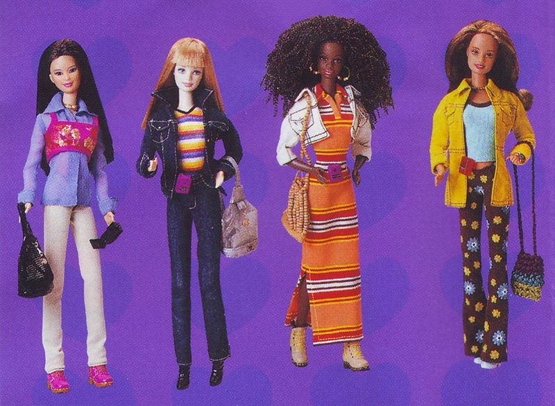 "Mattel ""Really Rad Barbie"" line, 1998"