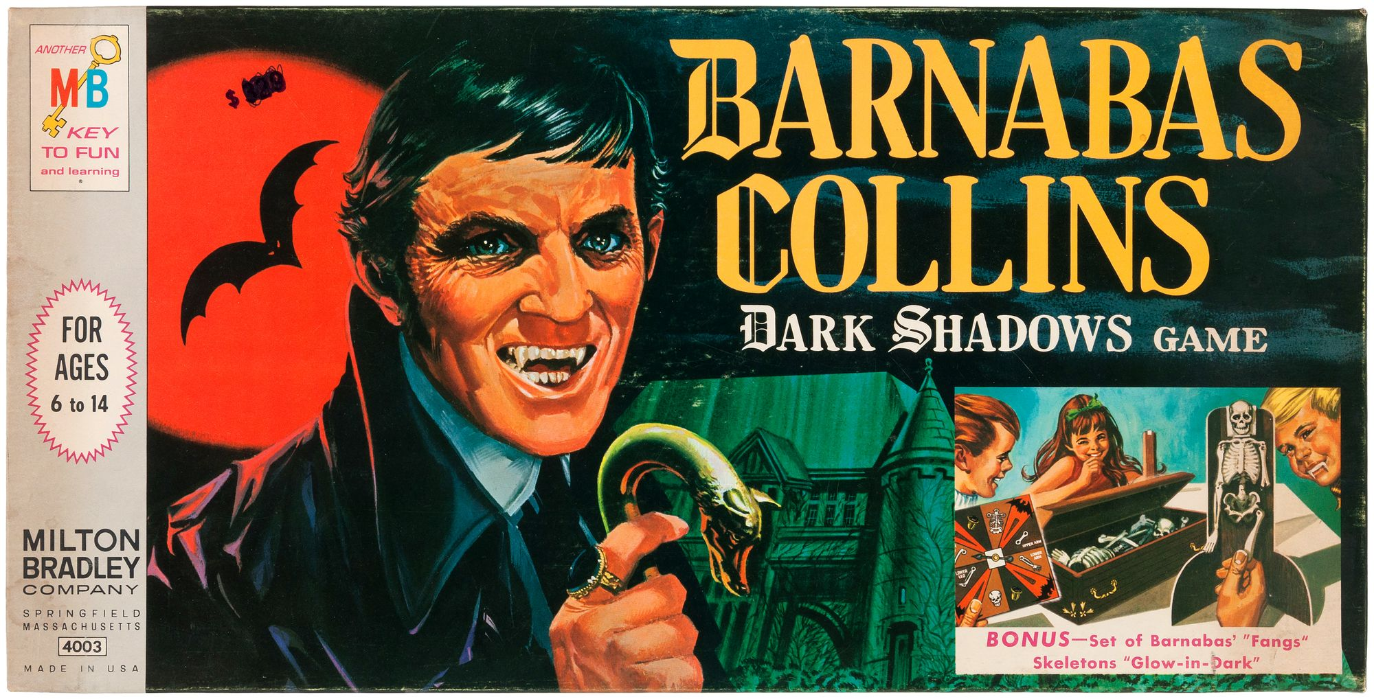 Milton Bradley Barnabas Collins Dark Shadows Game