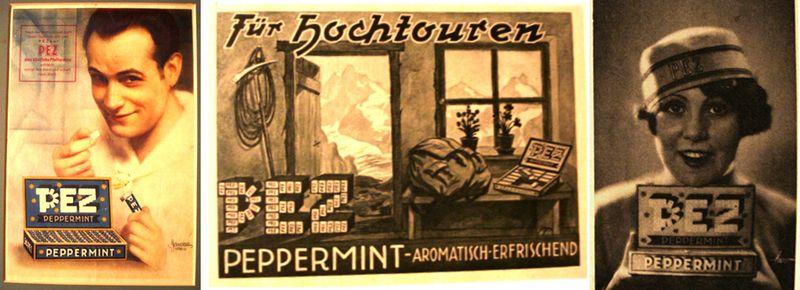 PEZ peppermint ads