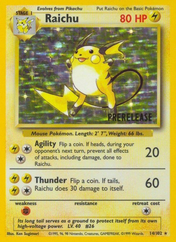 Pokémon Raichu Card #14/102