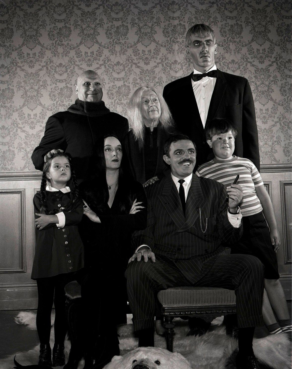 "The cast of the original ""Addams Family"" TV series, which ran on ABC from 1964-66."