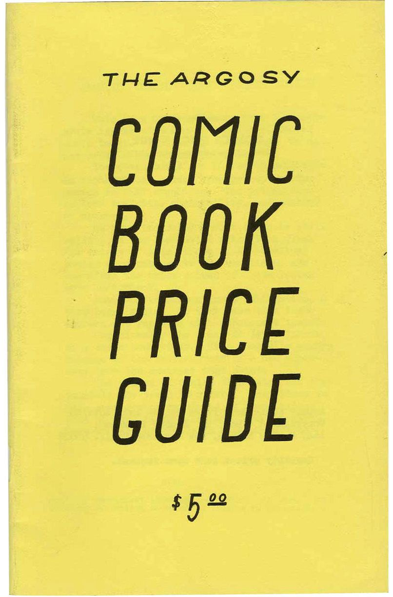 The Argosy Price Comic Book Guide First Edition, 1965